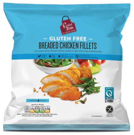 Rosie & Jim Breaded Chicken Fillets 400g available in Supermarkets
