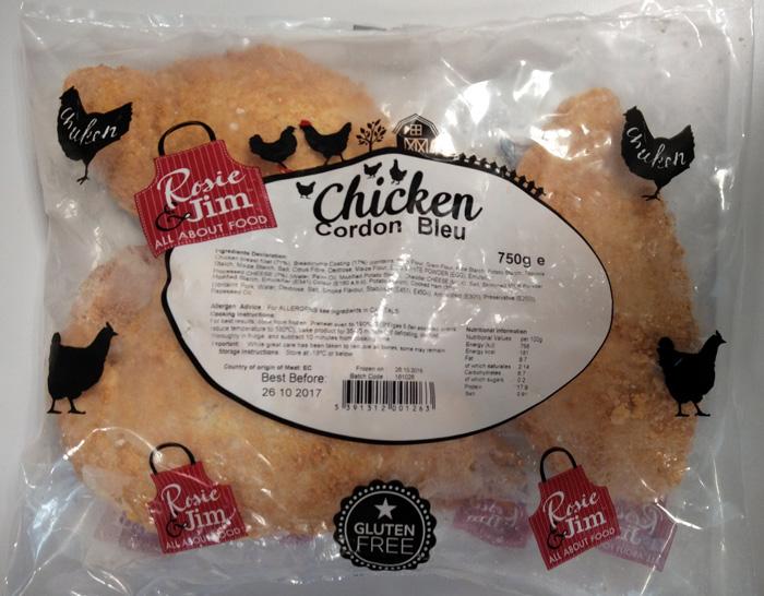 Rosie & Jim Chicken Cordon Bleu Gluten Free