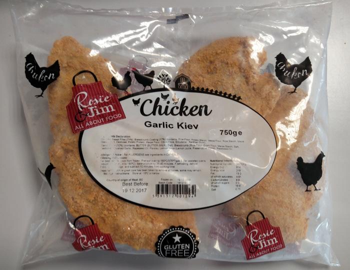 Rosie & Jim Gluten Free Garlic Chicken Kiev