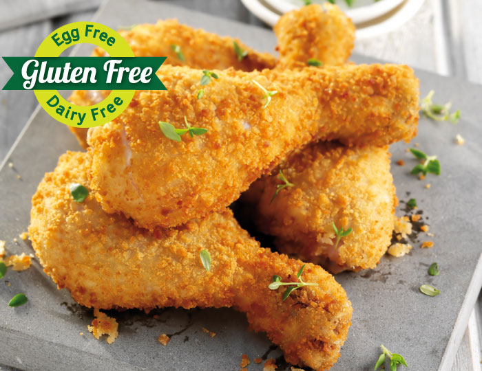 Gluten free egg flree dairy free chicken drumsticks