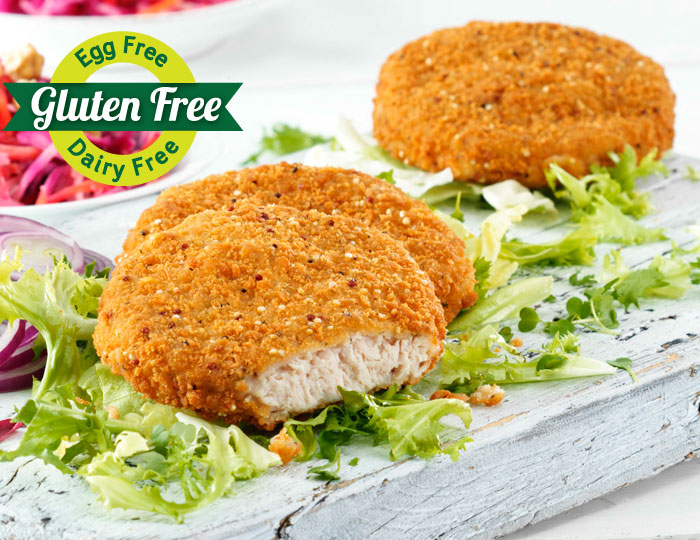 Turkey Fillet Burger with Quinoa and Herb Crust