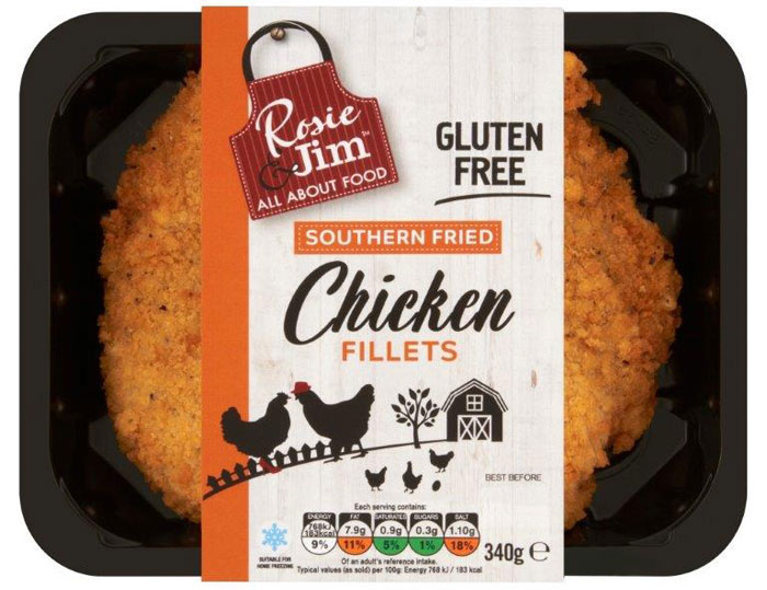 Southern Fried Chicken Fillet Tray