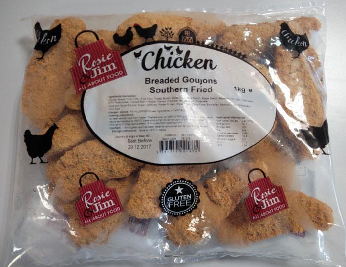Rosie & Jim Southern Fried Chicken Goujons Gluten Free