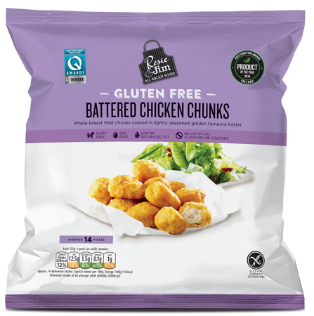 Rosie & Jim Chicken Chunks 500g available in Supermarkets
