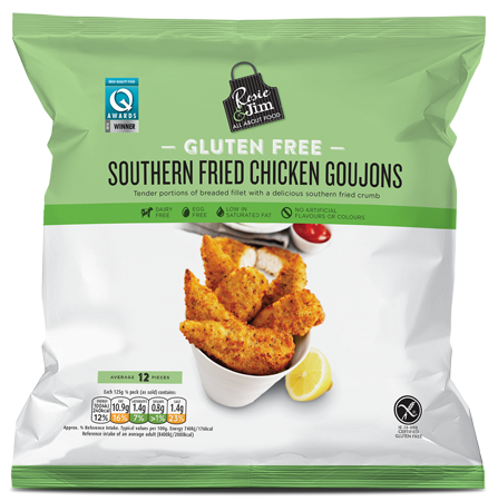 Rosie & Jim Southern Fried Chicken Goujons 500g available in Supermarkets