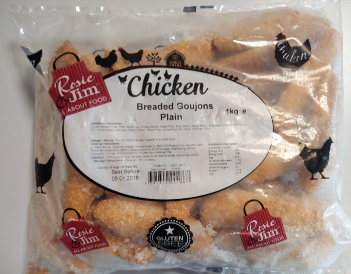 Gluten Free Chicken Goujons