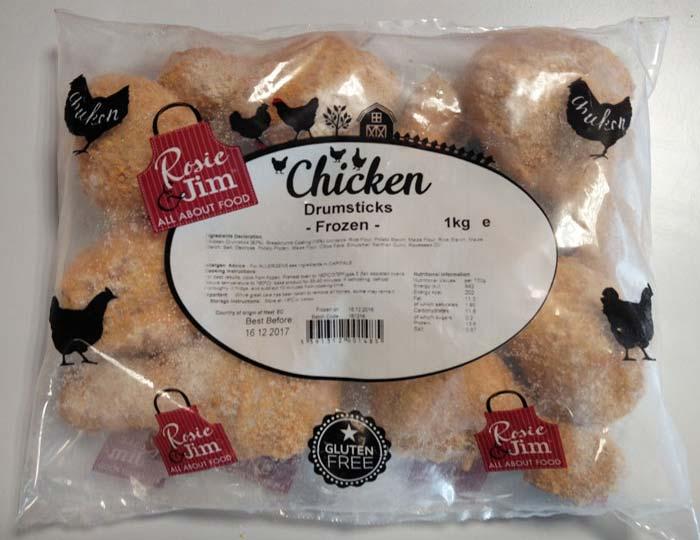 Rosie & Jim Chicken Drumsticks - Plain: Gluten Free