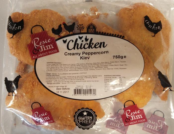 Rosie & Jim Creamy Peppercorn Chicken Kiev
