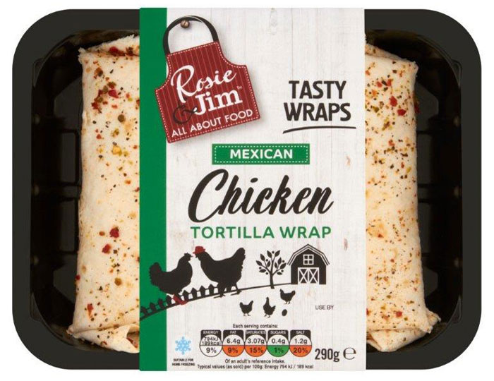 Mexican Chicken Wrap - Tray
