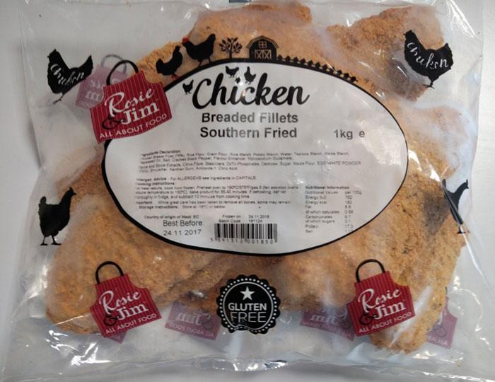 Rosie & Jim Southern Fried Chicken Fillet Gluten Free