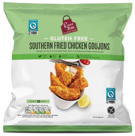 Rosie & Jim Gluten Free Southern Fried Chicken Goujons - Frozen Bag