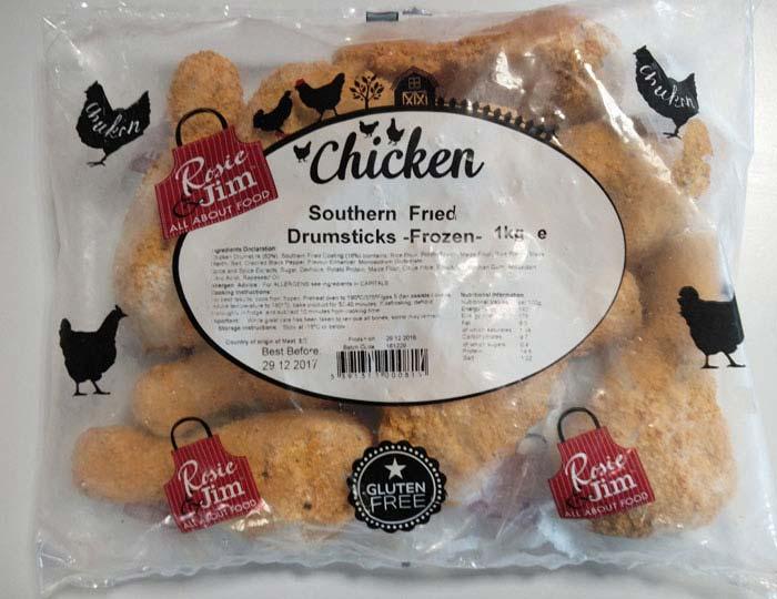 Rosie & Jim Chicken Drumsticks Southern Fried Gluten Free
