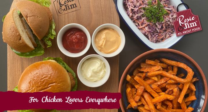 Chicken Burgers & sweet potato fries