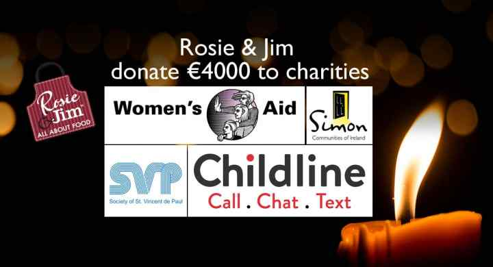 Rosie &Jim Donate €4000 to Irish Charities